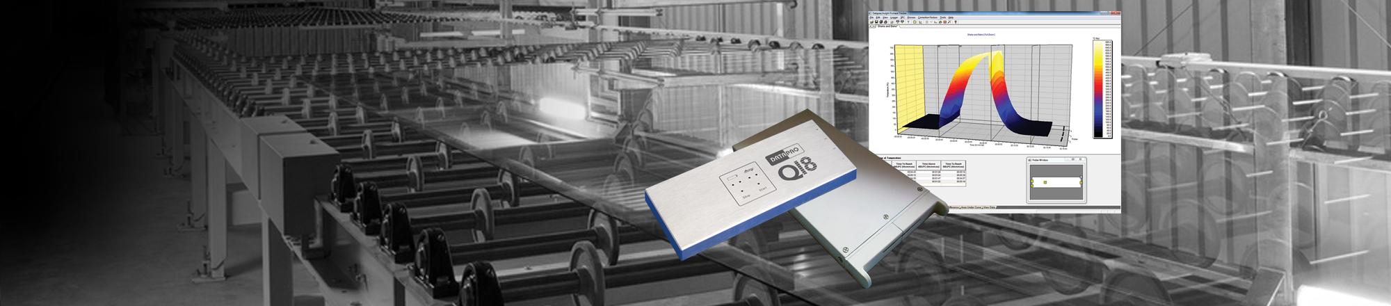 Aufzeichnung von Temperaturprofilen bei der Glasherstellung