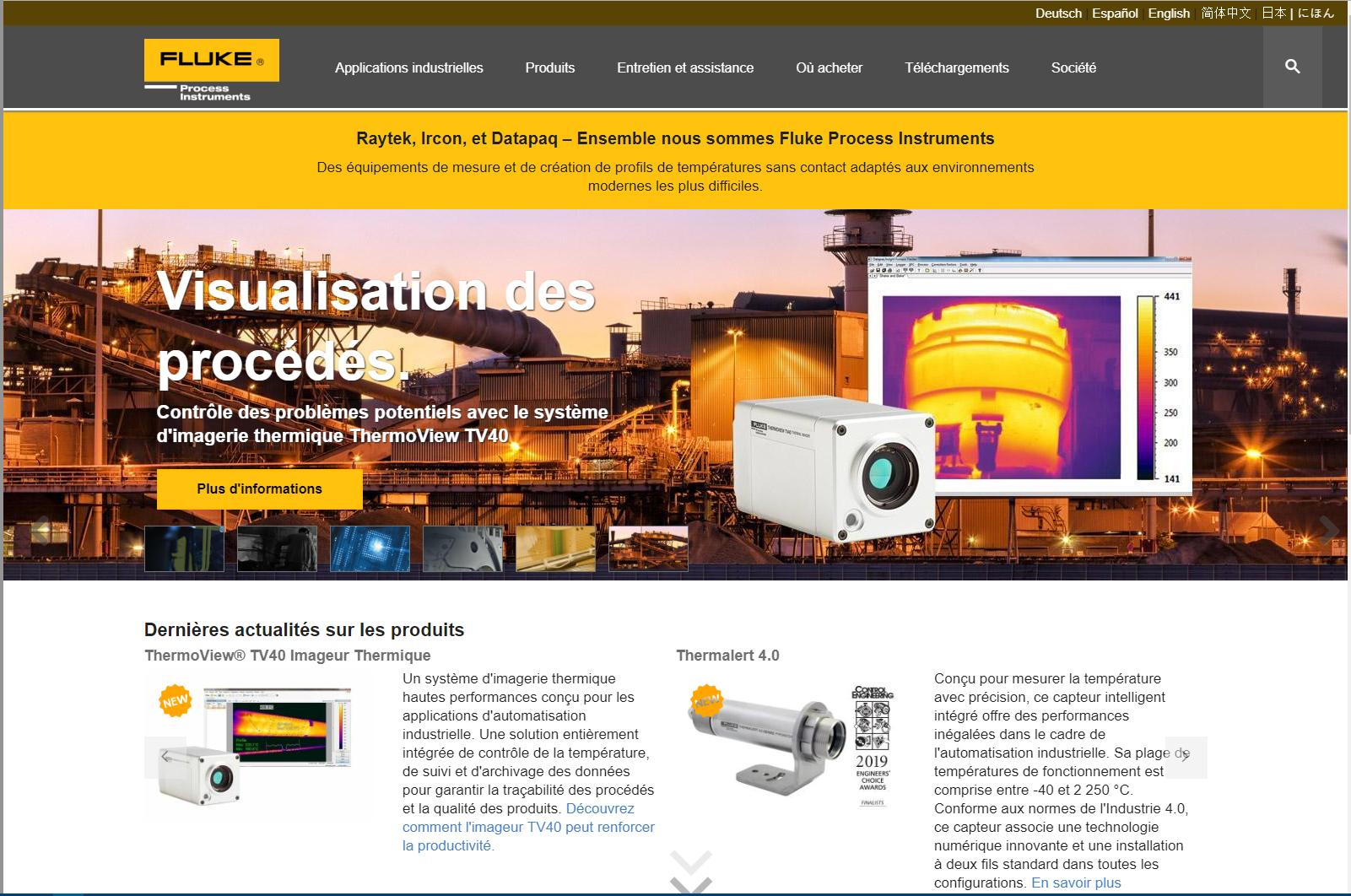 Fluke Process Instruments debuts Spanish- and French-language websites