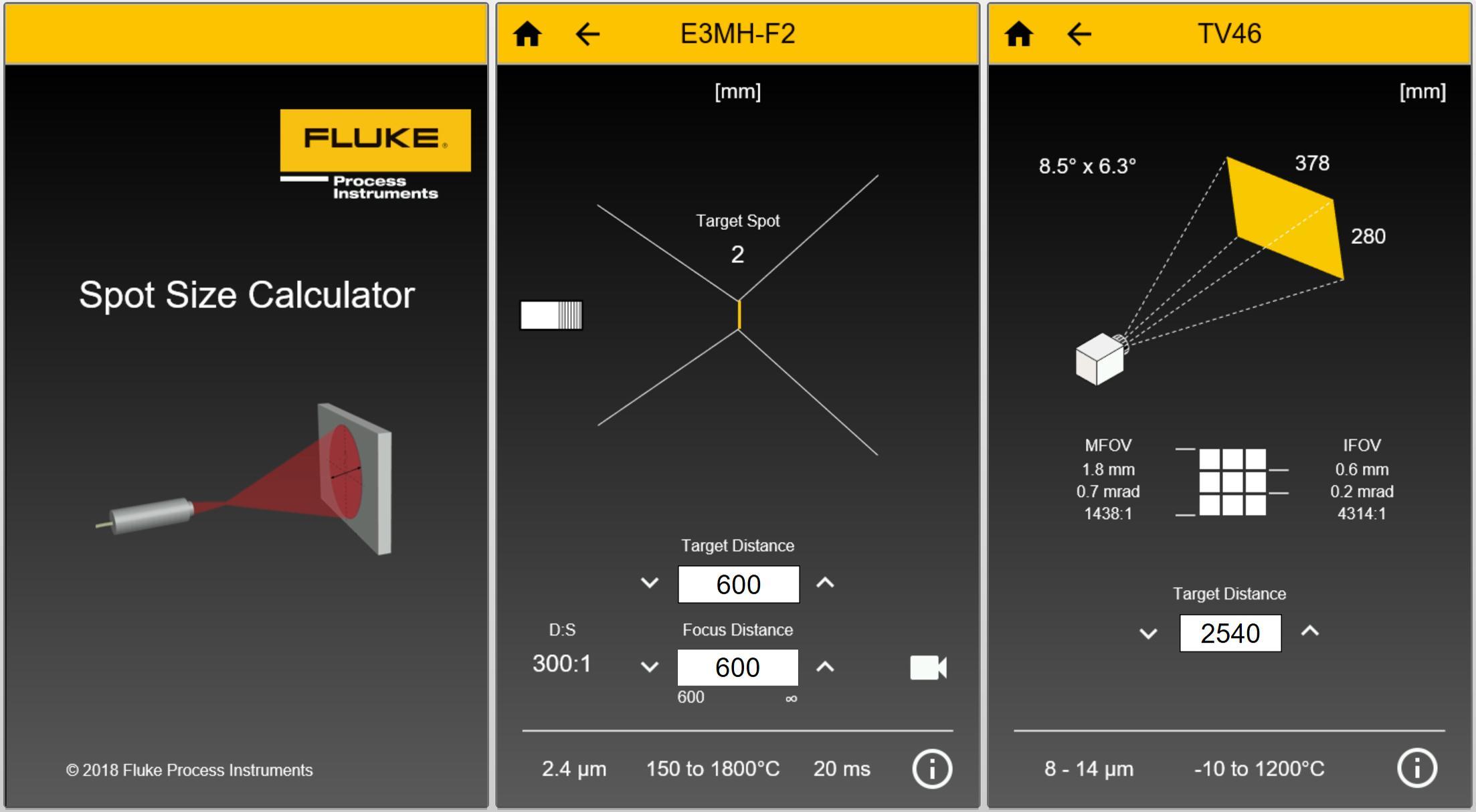 New Spot Size Calculator App
