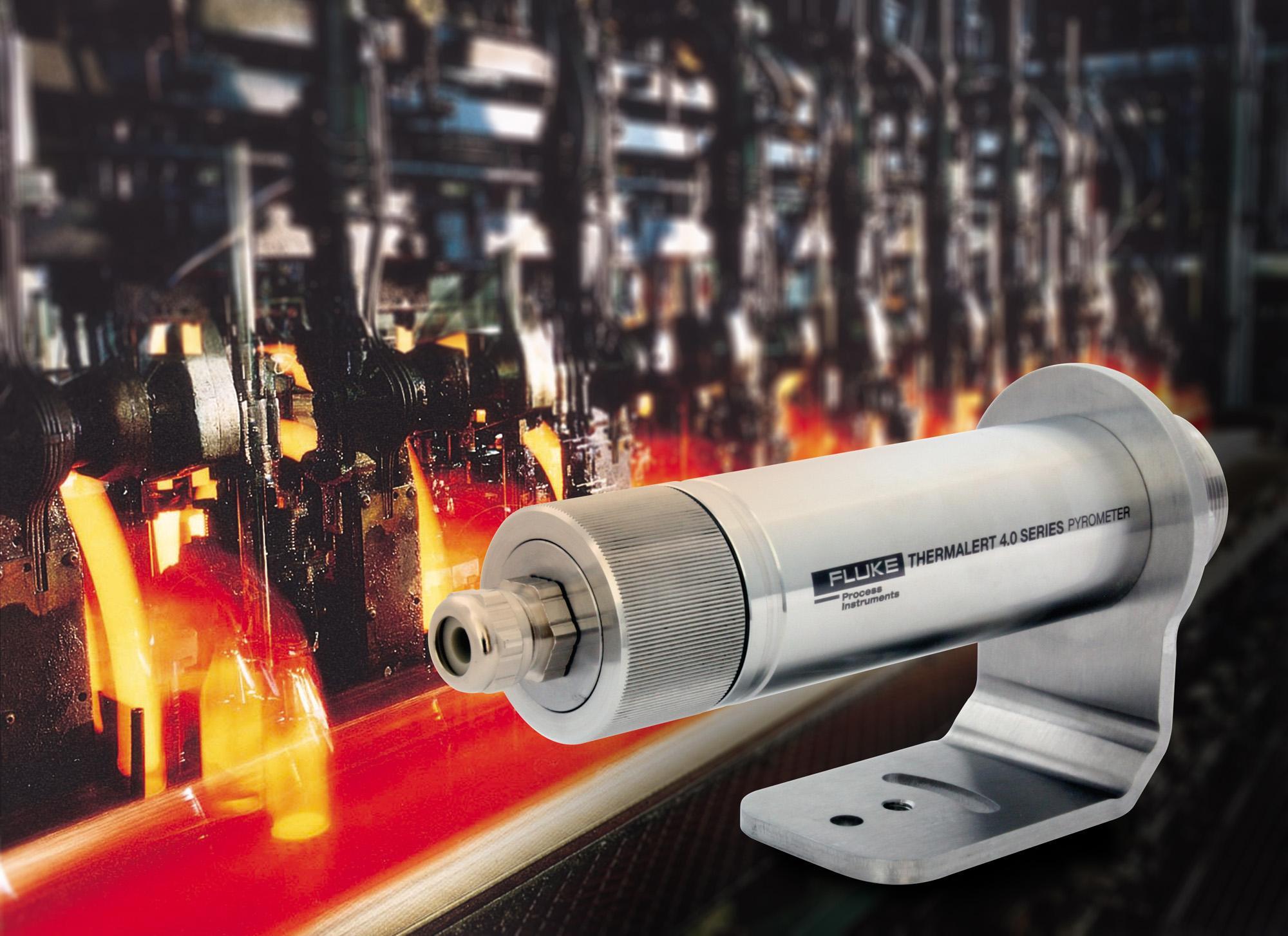 Einsatz der Pyrometerserie Thermalert 4.0 in der Glasindustrie
