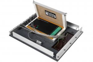 Messrahmen mit Hitzeschutzbehälter und Datenlogger für das Wellenlöten
