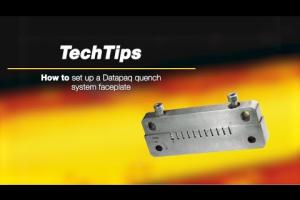 How to set up a faceplate in Datapaq Furnace Tracker Sealed Quench System